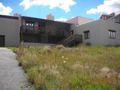 Need a 3 car garage?  There aren't many in Angel Fire.  This one level property provides a great view of the Wheeler Peak ridge and the Moreno Valley. Located right off Hwy 434, this could be a rental goldmine. No resort dues, 3 bedrooms, 3.5 baths, sleeps 9 in beds now, with room for more.  A little bit of TLC will go a long way.