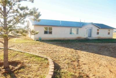 If you need a large home with a lot of space, you have landed in the right spot! This 5 bedroom home light & bright home has ample room with some great amenities. Solid surface counter tops in the bathrooms, pine tongue & groove vaulted ceilings in the living & kitchen areas. Recessed lighting in the spacious kitchen. Master bathroom has a jetted garden tub, separate shower, His & Her's sinks. Laundry area, arched doorways, nichos, & a pellet stove. 1.49 acres of views, a back yard shed, lots of open space!